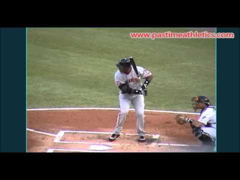 Barry Bonds Slow Motion Baseball Swing - Hitting Mechanics Instruction San Francisco Giants MLB