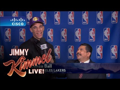 Jimmy Kimmel Talks to LA Lakers 2 NBA Draft Pick Lonzo Ball