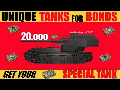 UNIQUE TANKS FOR BONDS Update 1 0 World of Tanks