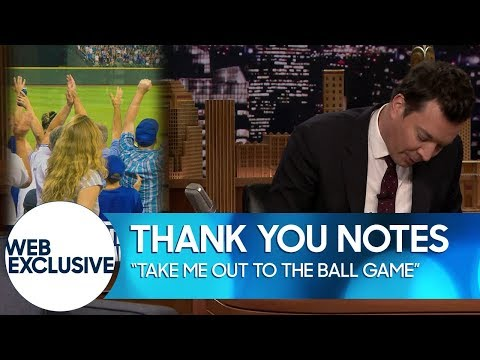 Take Me Out To The Ball Game Thank You Notes Web Exclusive