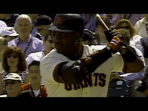 LAD@SF Bonds' first homer at AT&T Park