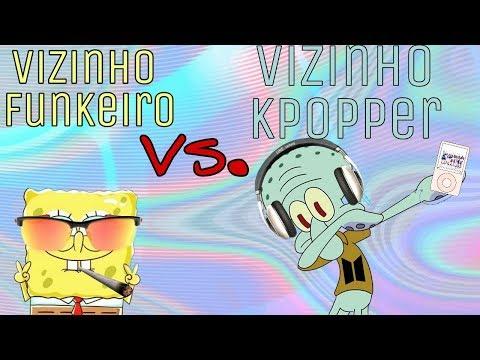 Vizinho funkeiro VS Vizinho Kpopper Bob Esponja VS Lula Molusco version