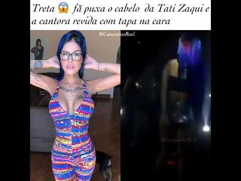 MC TATI ZAQUI DA TAPA NA CARA DE FÃ APÓS TER O CABELO PUXADO EM SHOW