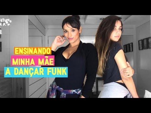 Ensinando minha mãe a dançar funk 0