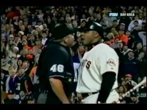 Barry Bonds ejected from game