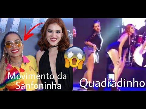 Ana Clara no Show de Anitta dança Movimento da Sanfoninha Ex-BBB18