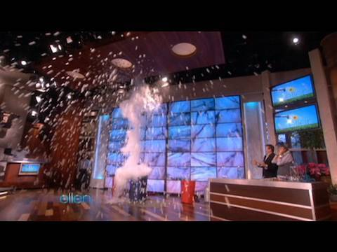 Liquid Nitrogen Ping Pong Ball Explosion on The Ellen Show
