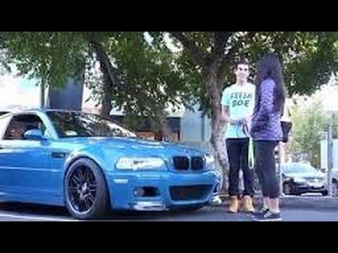 Pegando mulheres sensuais com uma BMW - Gold Digger Prank HQ