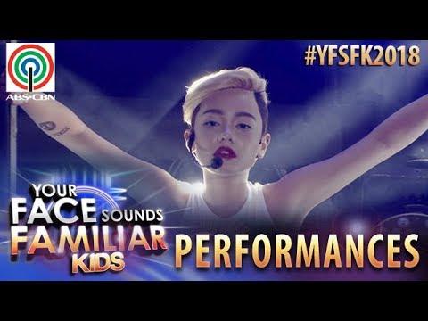 Your Face Sounds Familiar Kids 2018 Krystal Brimner as Miley Cyrus Wrecking Ball