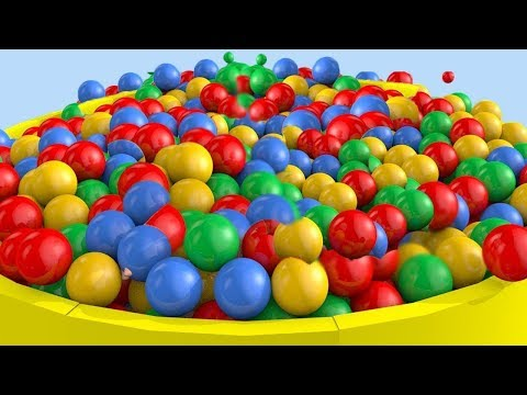 Learn Colors With Surprise Eggs Ball Pit Show - Truck Jump Street Vehicles for Kids