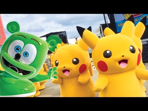 Pokemon Pikachu funny Dance with The Gummy Bear Song Nursery rhymes song for kids