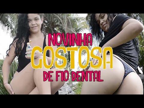 NOVINHA GOSTOSA DE FIO DENTAL NO LAGO