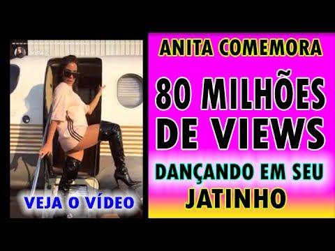 ANITA COMEMORA 80 MILHÕES DE VIEWS NO CLIPE PARADINHA DANÇANDO EM SEU JATINHO