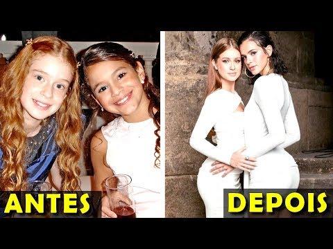 3 Crianças Famosas Antes e Depois Bruna Marquezine Marina Ruy Barbosa e Marcela Barrozo