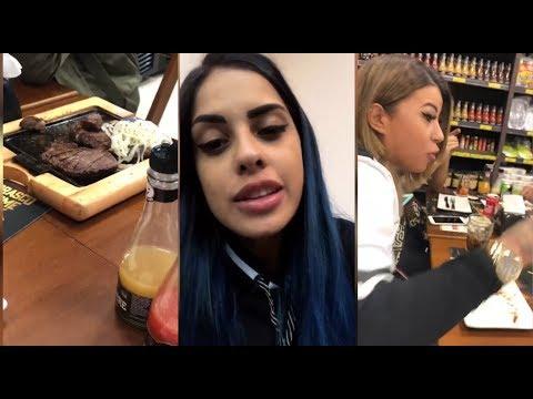 Mc Tati Zaqui em churrasco com Milena Lins Os Melhores Stories