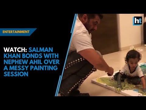 Salman Khan bonds with nephew Ahil over a messy painting session