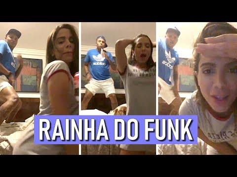 Anitta arrasa dançando funk só de pijama