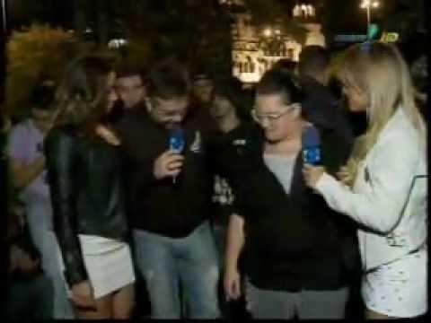 Pânico Na TV 16 05 2010 - Bola e Panicats no Flash Mob
