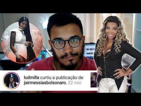 Detonaram a Funkeira Ludmilla Só Porque Ela Curtiu uma Foto do Bolsonaro Paz e Amor INTEOLERANTES