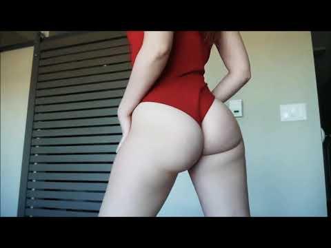 HOT WHITE GIRL big booty shake sexy ass twerking X TWERK 14