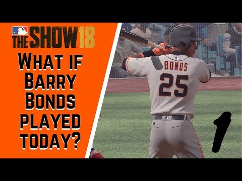 What If Barry Bonds Played Today Bonds Vs Kershaw - MLB the Show 18 - Ep 1