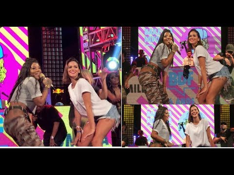 Bruna Marquezine se diverte em festa e faz o quadradinho com Ludmilla
