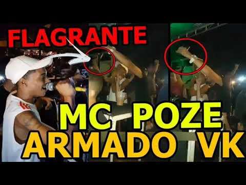 Funkeiro de sucesso MC poze e visto de pistola no baile na vk cv