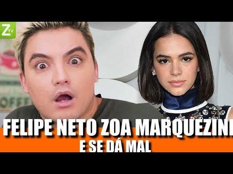 Bruna Marquezine deixa Felipe Neto constrangido após ser zoada por ele