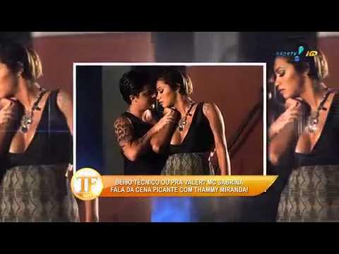 tv fama MC Sabrina nao esperava polemica por beijo em Thammy 27 05 2014 mircmirc