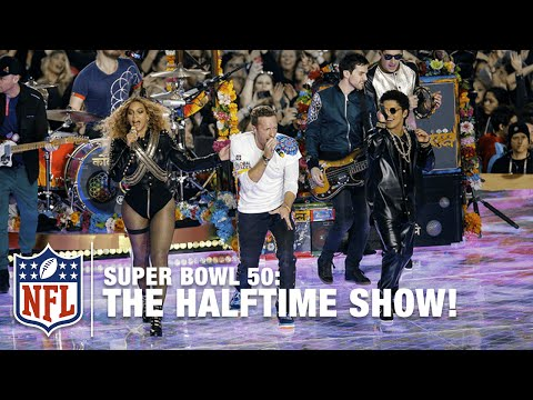 Coldplay's FULL Pepsi Super Bowl 50 Halftime Show feat Beyonce & Bruno Mars NFL