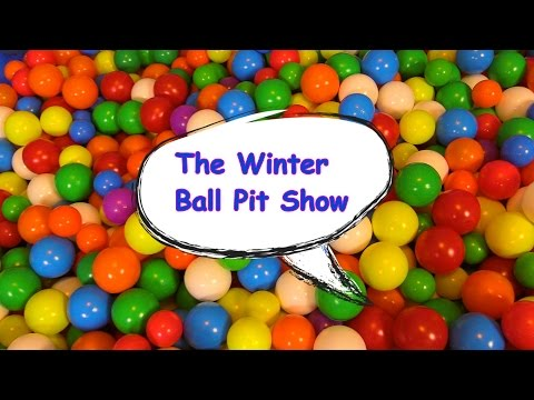 The Winter Ball Pit Show for learning colors -- children's educational video