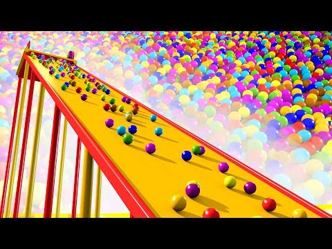 Giant Slide Ball Pit Show to Learning Colors for Kids - Panda Bo Bad Baby Educational Video