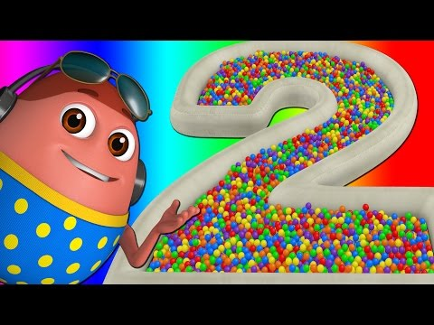 Surprise Eggs Ball Pit Show for Kids to Learn NUMBERS 1-10 ChuChu TV Funzone 3D for Children