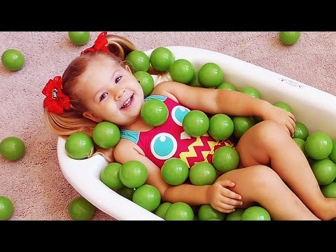 Learn colors The Ball Pit Show Bad Baby and Balls Finger Family Song and Nursery Rhymes for Kids