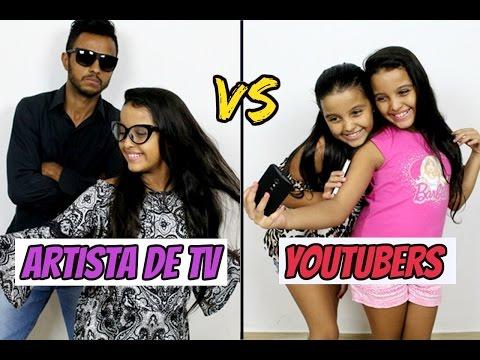 Artista de Tv Vs Youtubers - Diário das Gêmeas
