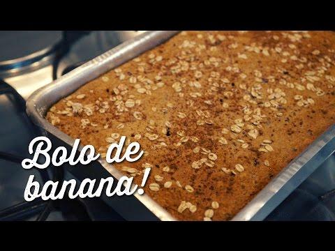 Como fazer bolo de banana sem trigo sem açúcar e sem leite