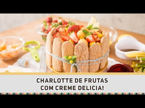 Torta Charlotte de Frutas - Receitas de Minuto 310